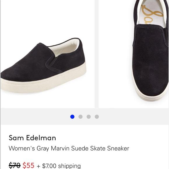 b58a18e75 Sam Edelman suede Marvin skater sneaker. M 5a5784262ae12f602c01550d